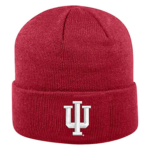 Top of the World Indiana Hoosiers Men's Winter Knit Hat Icon, Cardinal, One Fit