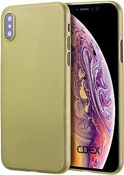 doupi UltraSlim Funda para iPhone XS MAX (iPhone 10s MAX) 6,5 Pulgada, Finamente Estera Ligero Estuche Protección, Amarillo: Amazon.es: Electrónica