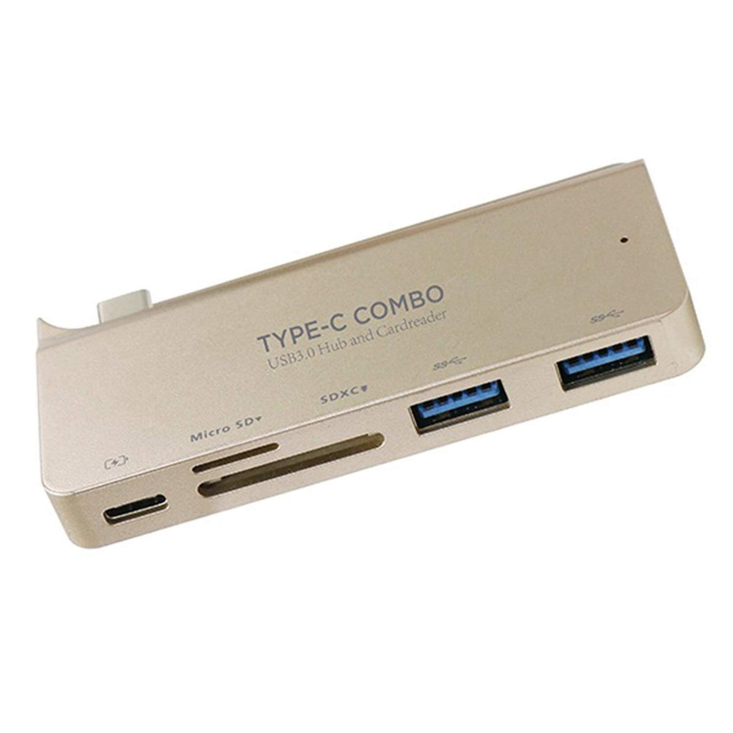 YOUKITTY Type-C HUB 2-Port Usb3.0+Sd//Tf Card Reader Charging Support Macbook12 64//5000