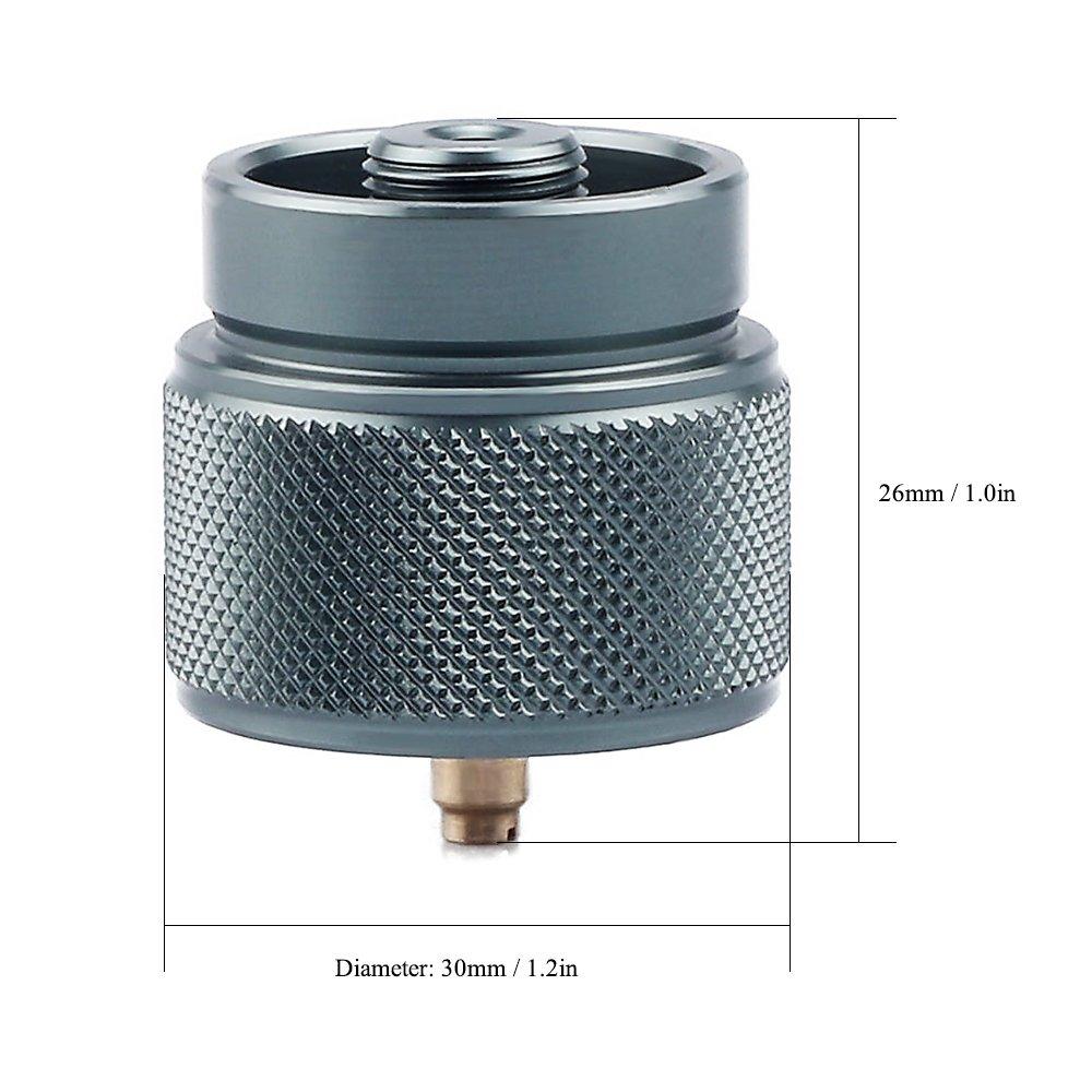 Lixada Adaptateur Gaz LPG Canister Head Adapter 1L Outdoor Camping Propane Petite entr/ée de R/éservoir EN417 Lindal Valve Output