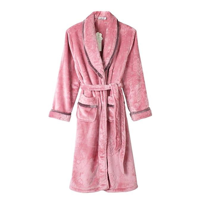 traje de otoño y el invierno y pijamas/Señora invierno polar de coral grueso manto/ las señoras pijama/ Albornoz traje cómodo: Amazon.es: Ropa y accesorios