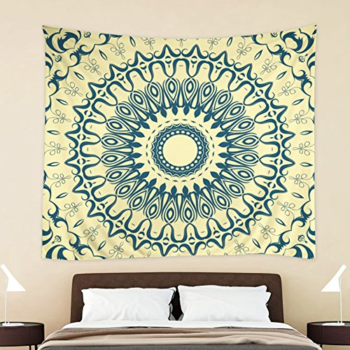 54' Shower Ring (HOKWAY Hippie Tapestry Boho prints Wall Hanging Art Decor Polyester Fabric Ethnic Decorative Bedspread Picnic blanket Beach throw (54'' x 70'', Pattern C))