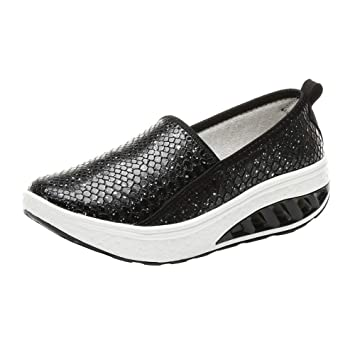 ZHRUI Zapatillas Deportivas para Mujer, Zapatos de Plataforma de Moda para Mujer 2018 Zapatillas Shake Slip Ocio Zapatillas Deportivas para Correr ...