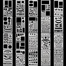 Drawing Painting Stencils Template 20 Pcs Set, Bullet Journaling Stencils Plates for Decorate Planner, Children Creation, Calendar, Notebook, Diary, Scrapbook Craft Projects