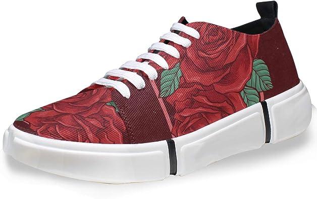FANTAZIO - Zapatillas de Running para Hombre, diseño de Rosas ...