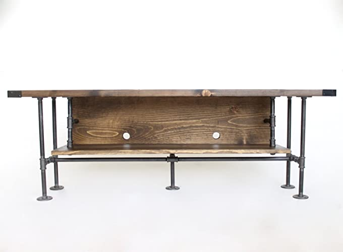 amazon com rustic tv stand ready to ship industrial pipe tv