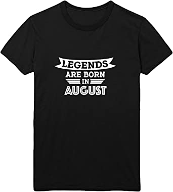 Legends Are Born In August T-Shirt Camiseta Shirt para Hombre ...