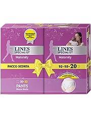 Lines Specialist Pants Maternity Misura Media, 70 - 100 cm, 20 Mutandine Post Parto