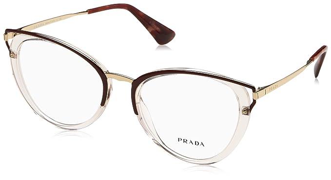 Prada Damen Sonnenbrille 0PR57US 2AU3D0, Braun (Havana/Brown Grey), 54