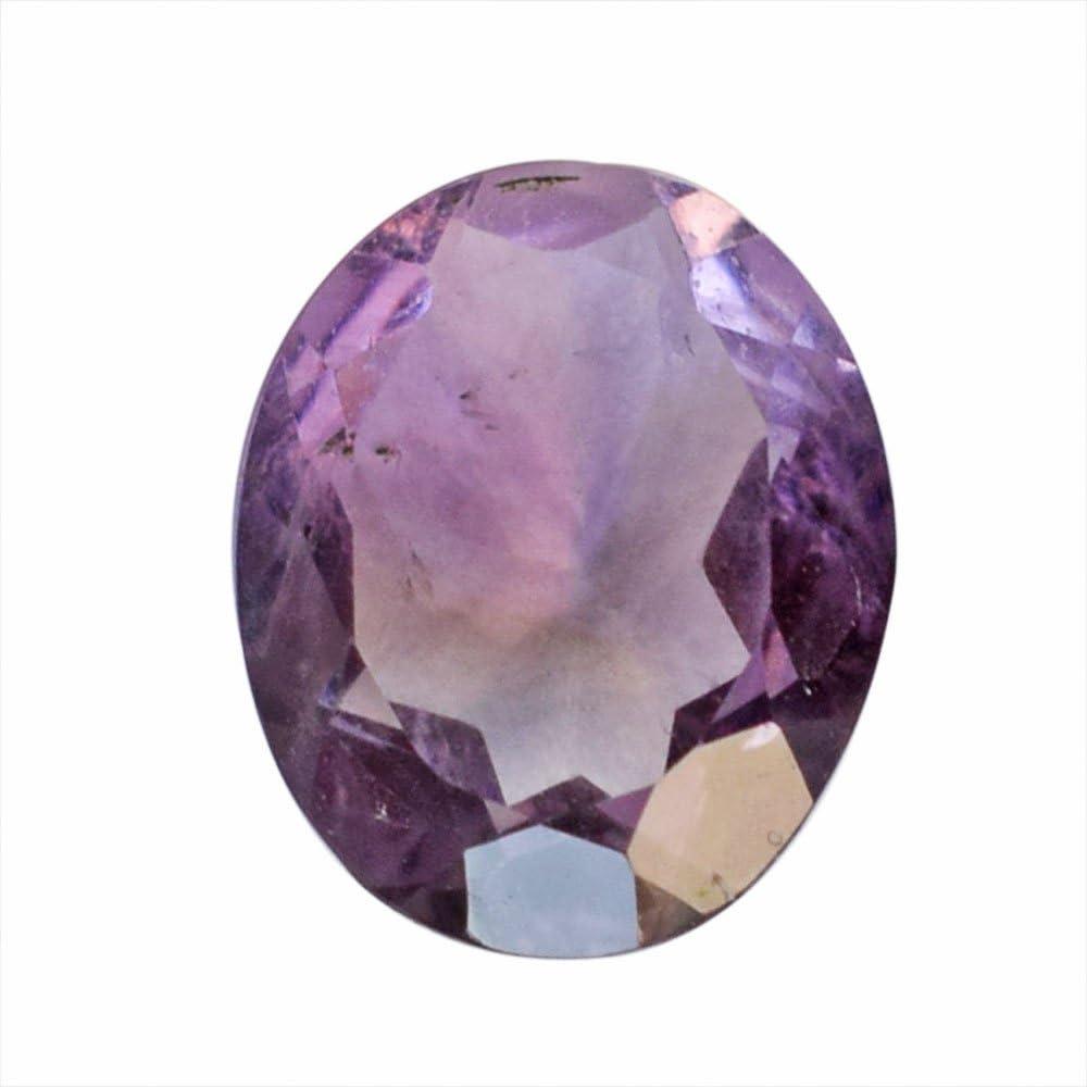 Anillo de amatista ovalada de 4 quilates, piedra preciosa suelta, piedra para colgante, AG-8297