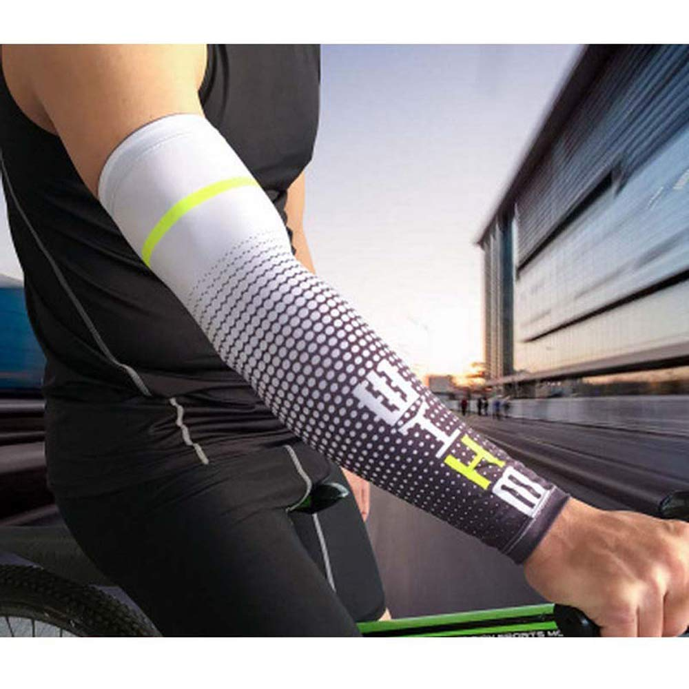 JPISABB Cool Men in Esecuzione Bicycle UV Sun Protection Cuff Cover Protective Arm Sleve