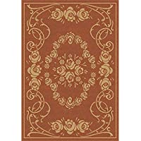 Safavieh Courtyard Collection CY1893-3202 Terracotta and Natural Indoor/ Outdoor Area Rug (9 x 12)