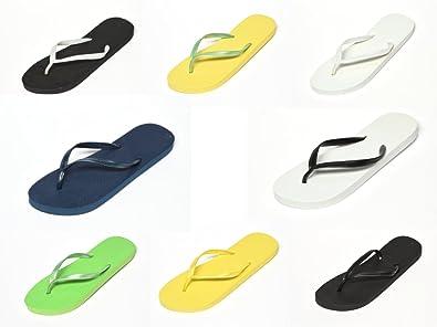 Cepewa, Unisex-Erwachsene Zehentrenner, gelb, grün, weiß, schwarz, blau (36, gelb/grün)