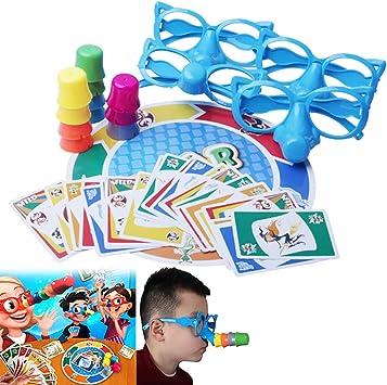 Hilai 1 Set Fibra Juego de Mesa Estirar la Verdad de Juegos Familiares Entre Padres e Hijos Juguete Creativo Interactivo Juego de Mesa para la Fiesta de Encuentro: Amazon.es: Juguetes y juegos