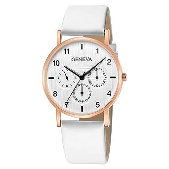 Weant Montres bracelet Montre Femme Mode Luxe Femmes Regardent la Marque  Genève Montre de Poignet de Bracelet en Cuir d horloge de Quartz  Occasionnel  ... 044428d2f05