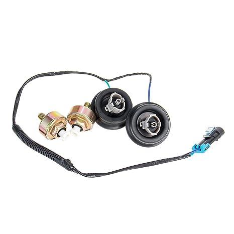 amazon com: carbole wire harness connector + engine dual knock sensors kit  for chevy gmc silverado sierra cadillac 12601822 10456603: automotive