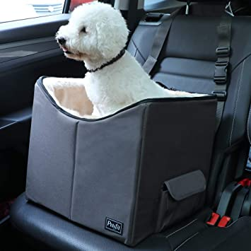 Pet Booster Seat >> Petsfit Pet Car Booster Seat With Seat Belt Tether Safe And Comfort Sofa For Dog And Cat To Look Around 40cm X 38cm X 35cm Small