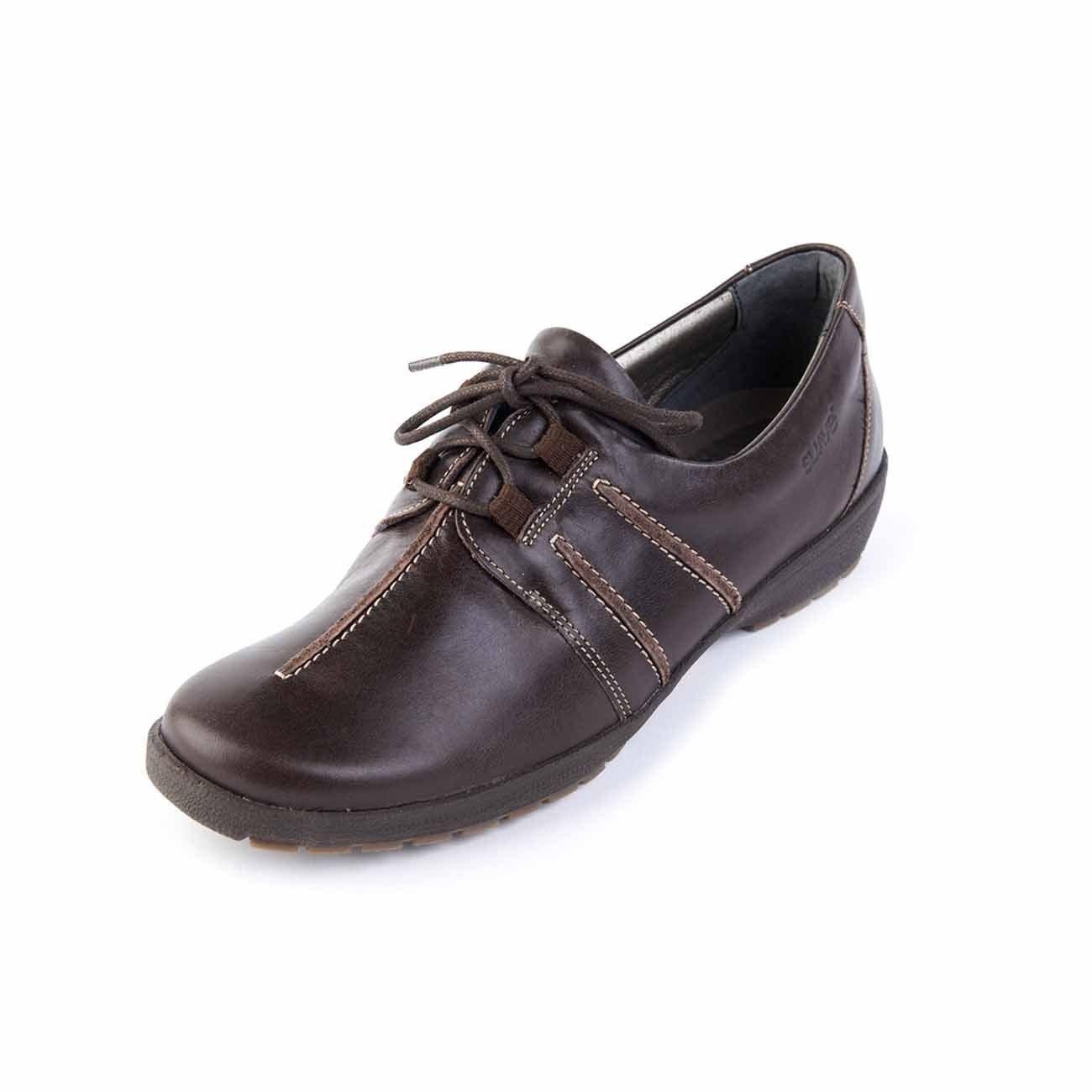 Suave - Zapatos de cordones de Otra Piel para mujer 37 EU|marrón
