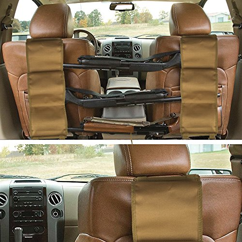 - GVN Car Concealed Front Seat Back Gun Rack To Hold 3 Rifles For Rifle Hunting Fits Most Sedans SUVs Pickup Mini Vans Jeeps In Pair Tan