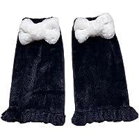 BZB Women's Kawaii Pink Bow Leg Warmer Socks Lolita Harajuku Fuzzy Fluffy Plush Cartoon Cosplay Foot Warm Socks For…