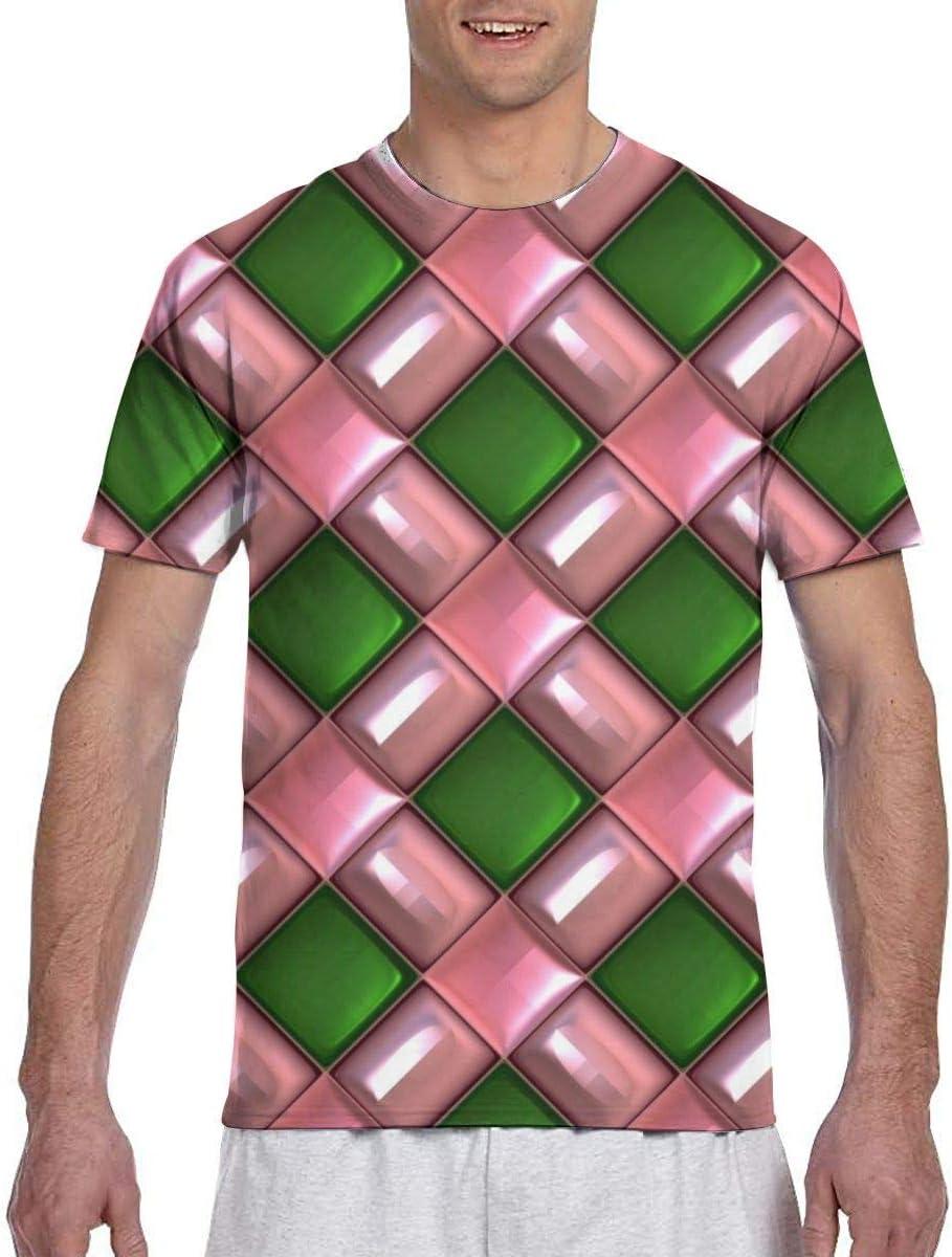 Cuteove 3D Gem Texture Men Short Sleeve tee Sports T Shirt Tees ...