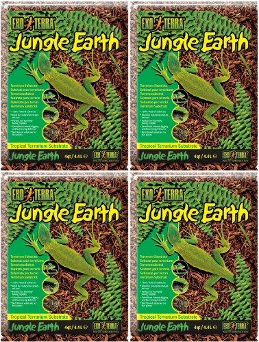 Exo Terra Jungle Earth Tropical Terrarium Substrate 16qt (4 x 4qt) by Exo Terra