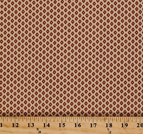 Cotton Jo Morton Isabella Diamonds Dots Brown Ecru Civil War Reproduction Cotton Fabric Print by the Yard (7944) (Fabric Isabella)