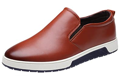 Men's Winter Plus Size Leather Business Shoes Casual Slip-On Loafer Driving Shoes