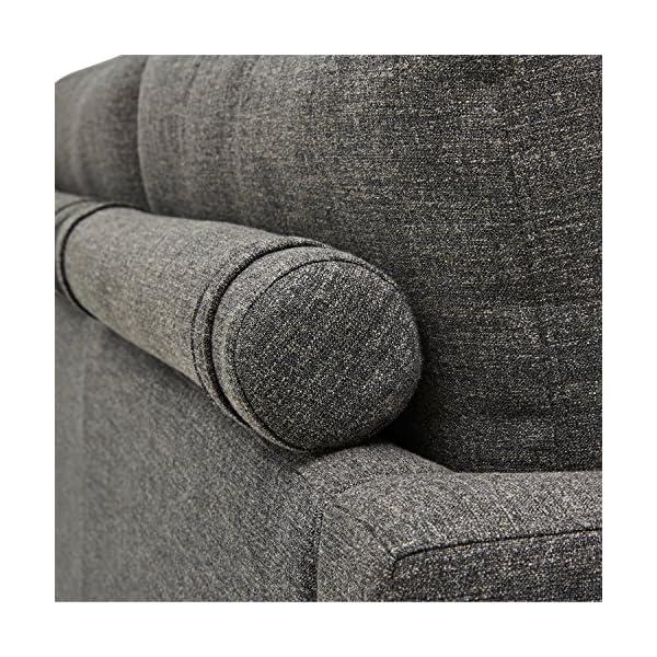"Rivet Cove Mid-Century Tufted Sofa, 71.7""W, Dark Grey 2"