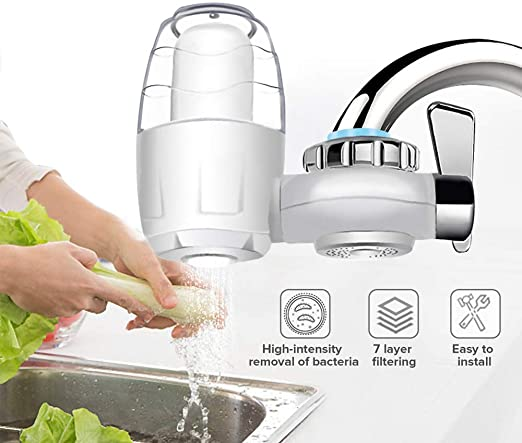 SUPRIQLO Tap Water Filter Purifier Kitchen Tap Activated Carbon Water Filter Replacement Water Filters