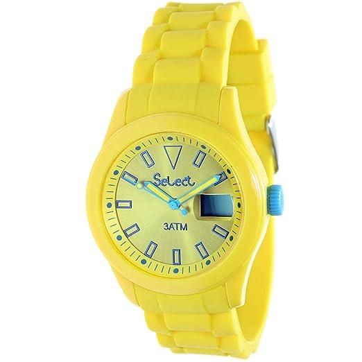 Select Rt-10-5 Reloj Analogico para Niño Caja De Plastico Esfera Color Amarillo: Amazon.es: Relojes