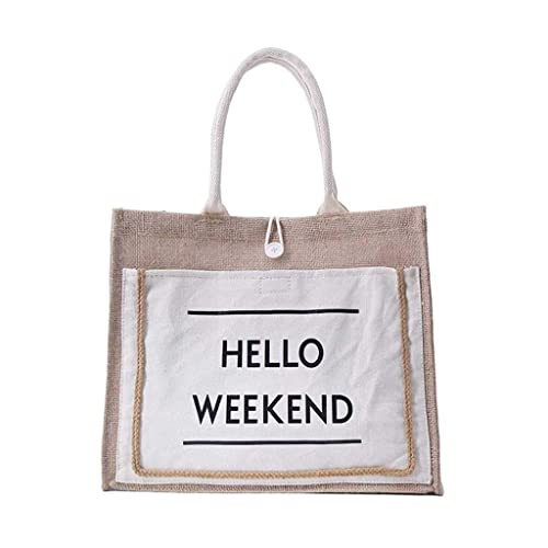 Amazon.com: Handbag,pollyhb Elegant Ladies Linen Handbag ...