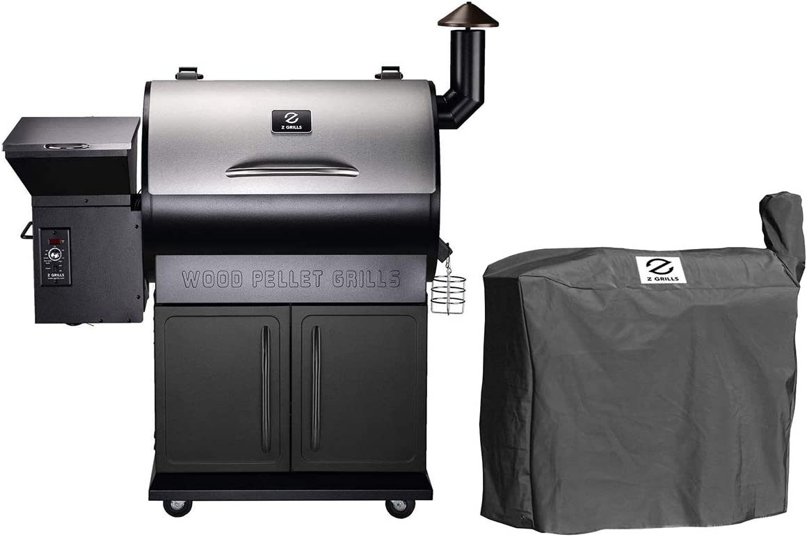 Z GRILLS ZPG-700E Wood Pellet Grill Smoker for Outdoor Cooking with Cover, 2020 Upgrade, 8-in-1