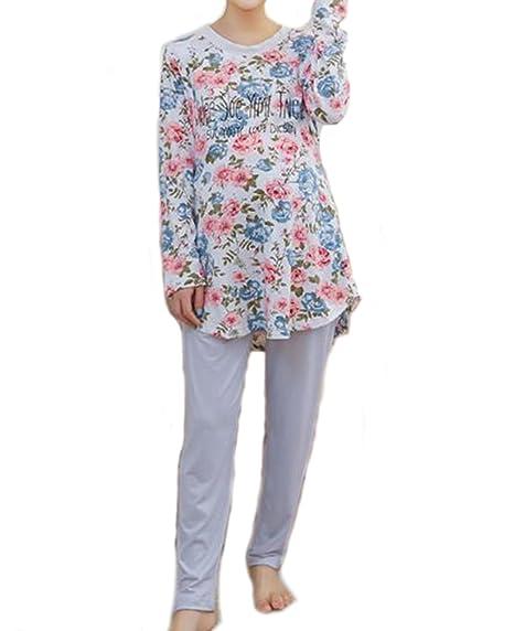 b652485f9b7f8 Bold N Elegant White Floral Printed Soft Cotton Maternity Sleepwear Sets Pregnancy  Night Suit Night Dress