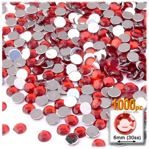 Flat Back Crystals Red Light - 8