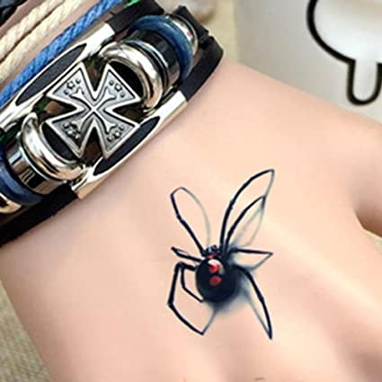 dfly 10 pcs araña tatuaje cuerpo adhesivo macho hembra araña 3d ...