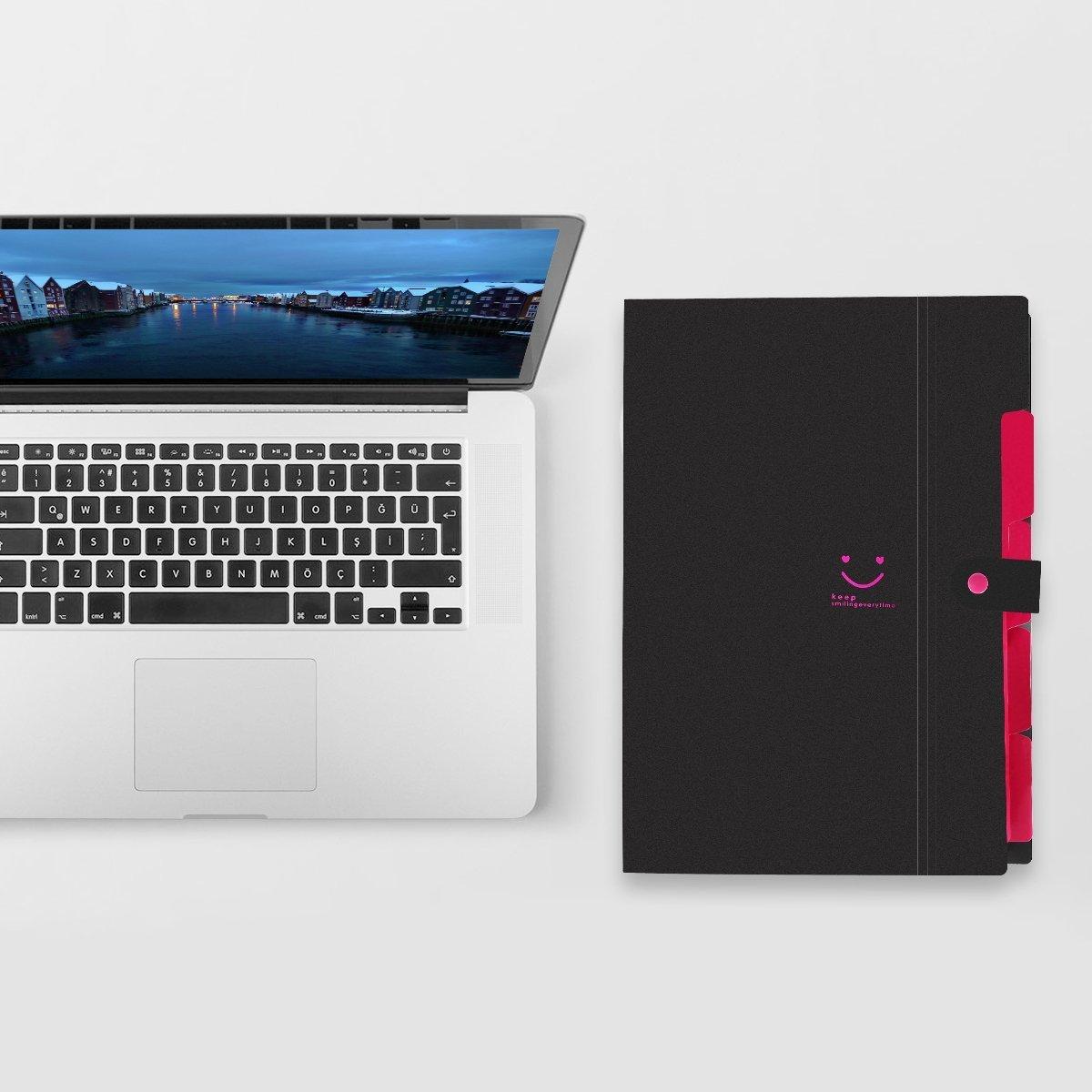 ed37ea337aac Expanding File Folder 12 Pockets with Snap Closure 1617 EU Portable ...