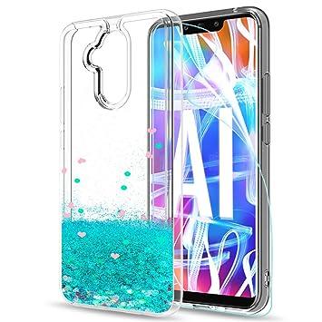 LeYi Funda Huawei Mate 20 Lite Silicona Purpurina Carcasa con HD Protectores de Pantalla, Transparente Cristal Bumper Telefono Gel TPU Fundas Case ...