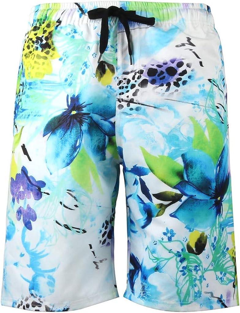 Fabal Mens Summer Fashion 3D Printed Shorts Recreational Sports Beach Pants
