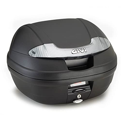 Givi E340NT Vision Tech Monolock Topcase avec une Plaque, Noir uni