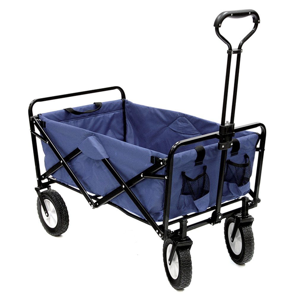 キャリーカートアウトドアワゴン超強軸受 分解できます 耐水洗い 折りたたみやすい 鋼 オックスフォード布 5色 (色 : Gray blue, サイズ さいず : 100x50x55cm) B07FY8FMM9  Gray blue 100x50x55cm