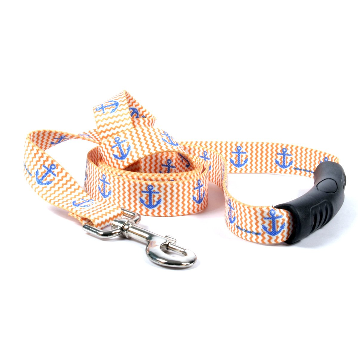 Yellow Dog Design Anchors Away Ez-Grip Dog Leash with Comfort Handle 1'' Wide and 5' (60'') Long, Large