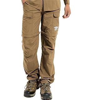 CLOUSPO Pantalones desmontables para hombre con cremallera y secado r/ápido