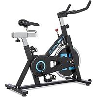 Capital Sports Radical Arc - X13 oder Pro 18 - Ergo Bike, Indoor Bike, Fahrradergometer, Heimtrainer, bis 120 kg, Schwungscheibe mit 13 kg oder 18 kg, schwarz