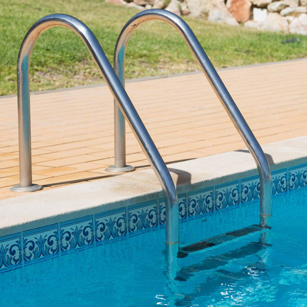 MTFY Swimming Pool Ladder, Stainless Steel Swimming Pool Step Lader for in-Pools, 3 Step Non Slip Heavy Duty Pool Entry Ladder with Easy Mount Legs by MTFY
