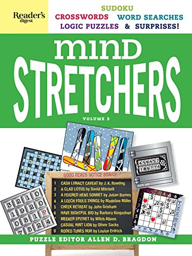 Readers Digest Mind Stretchers Puzzle Book Vol  3  Number Puzzles  Crosswords  Word Searches  Logic Puzzles And Surprises
