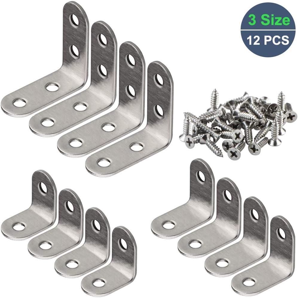 Stainless Steel Straight Flat Corner Braces Furniture Fittings Fixing Bracket*50
