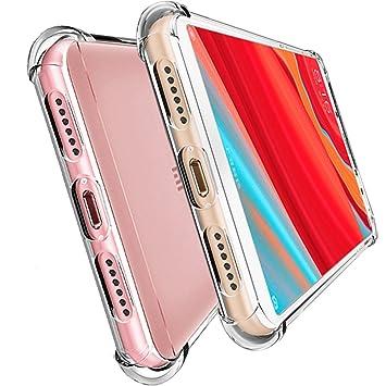 HUUH Funda Xiaomi Redmi S2, Slim,TPU de alta transparencia Cubierta protectora,sin deformación,duradero,Cuatro esquinas engrosadas