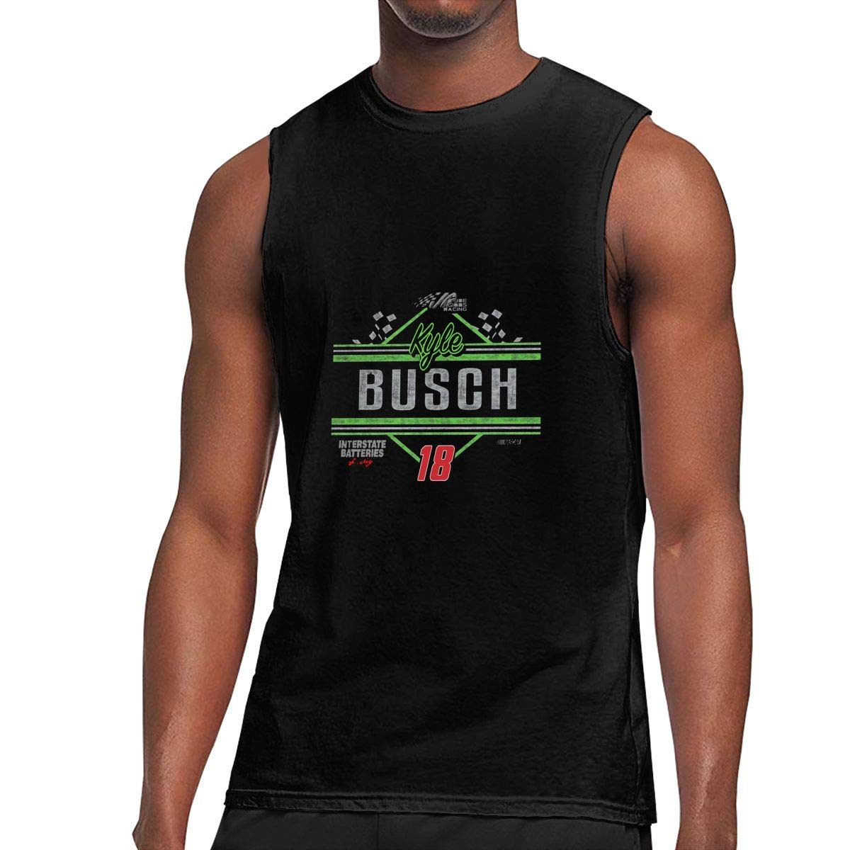 Cfdef S Sleeveless T Shirts Kyle Busch Throw Workout Tank Tops Gym Bodybuilding Tshirts Black