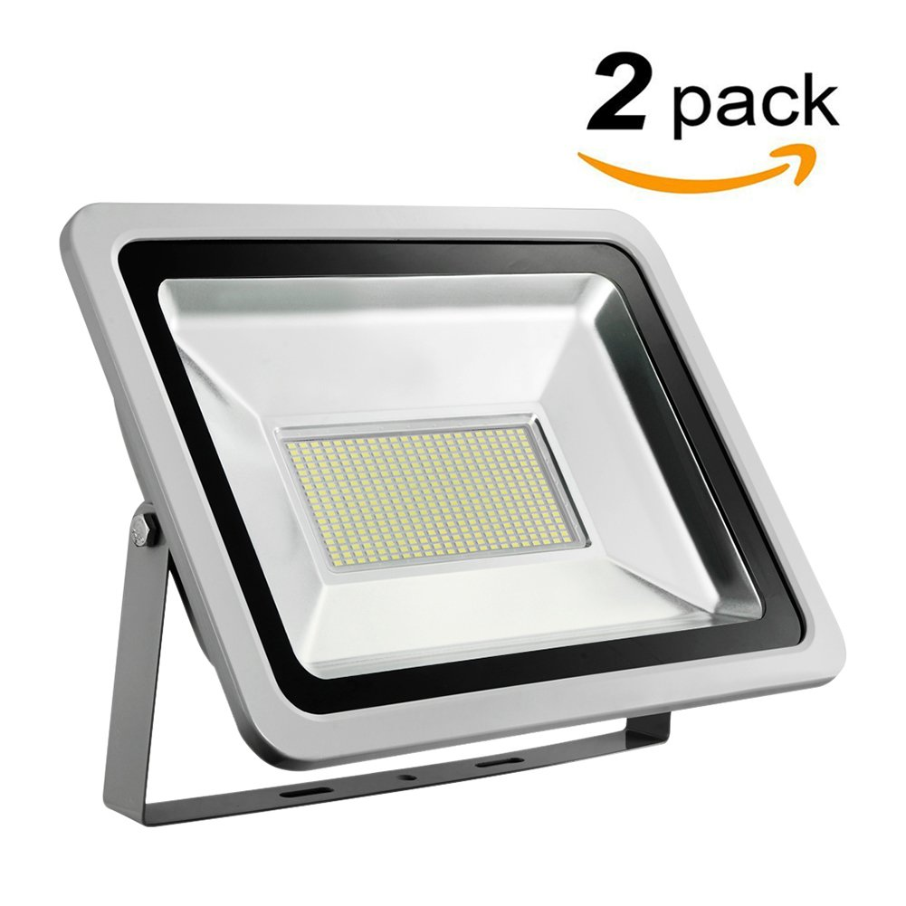 Missbee 2 Pack 200W Led Flood Light,Outdoor Spotlight,Waterproof IP65,6000-6500K,22000lm, Super Bright Security Lights for Garage, Garden, Lawn,Yard and Playground (Cold White)